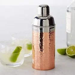 Stainless Steel Copper Plated Hammered Cocktail Shaker