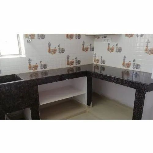 Black Granite Kitchen Countertop Thickness 18 20 Mm Rs 170