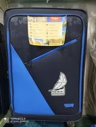 Blue Polyester Wheeled Trolley Bag