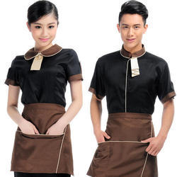 Black, Brown Nylon Waiter Uniform, Size: Small