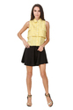 Yellow Sleeveless Fancy Official Designer Top