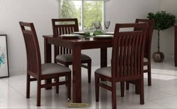 Applewood Brown Wooden Dining Table Set