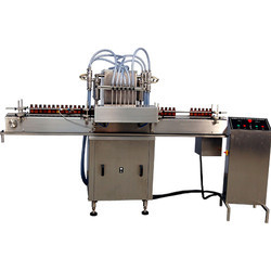 Semi Automatic Twin Head Linear Liquid Filling Machine Model-RIF-15