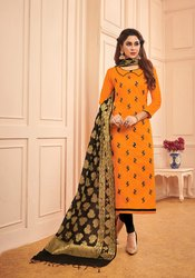 Female Cotton Pr Fashion Launched Beautiful Dress Material, Size: Medium