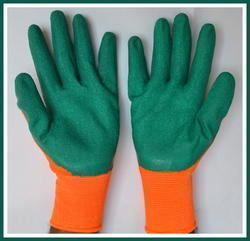Full Fingered Unisex Nylon Knitted Rubber Dipped Hand Gloves