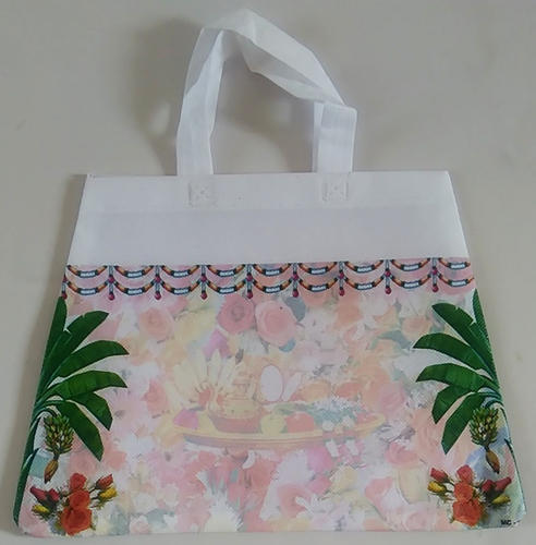 Printed WHITE Carry Bag, Bag Size (Inches): 10 X 14 INCH