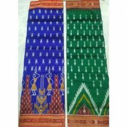 Cotton Party Wear Ladies Handloom Pata Saree, 5.5 m (separate blouse piece), Packaging Type: Box