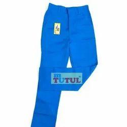 Blue Cotton School Trousers, Waist Size: 26 - 32