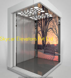 Stainless Steel Elevator Cabin, for Residential Elevators