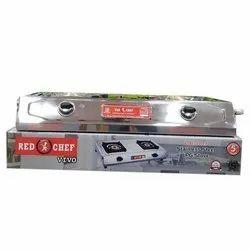 Red Chef 2 Burner Stainless Steel Vivo LPG Stove