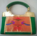 Green Color Hand Bag