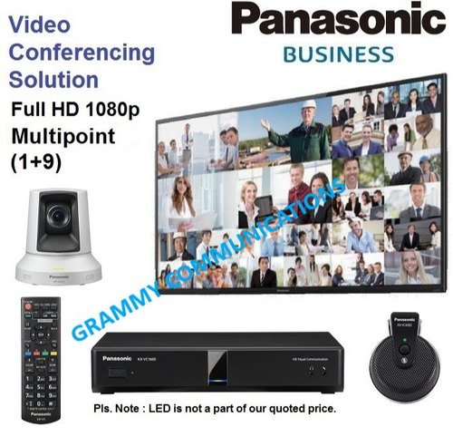 Panasonic Video Conferencing System: Multipoint 10-Sites Connection with 3x Optical Zoom