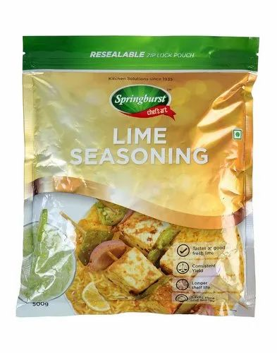 Powder Vkl Springbust Lime Seasoning -500gm, For Food Processing, Packaging Size: 500 Gm Pkt