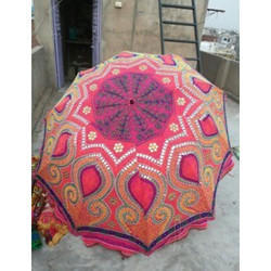 Hand Embroidered Garden Umbrella