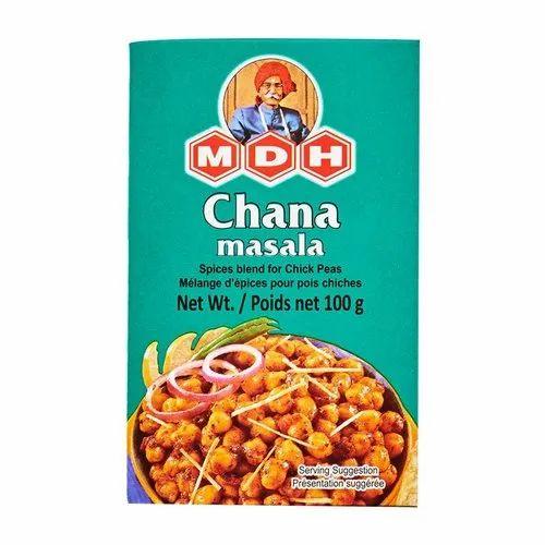 MDH 100 G Chana Masala, Packaging Type Available: Box