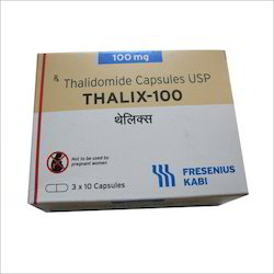 Thalidomide 100mg Capsules, Packaging Size: 3x10, 100 Mg