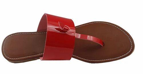 5f7073b96c6b Foot Wagon Red Leather Flats Classy Ladies Slippers Formal Ladies Flats