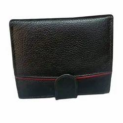 Plain Ladies Black Leather Wallet, Compartments: 2
