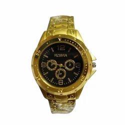 Rosra Black Dial Golden Men Wrist Watch