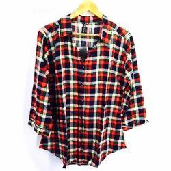 VBSTR Checks Ladies Cotton Shirt
