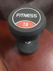 Black Rubber Fitness Dumbbells, Weight: 7.5 Kg