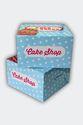 Sky Blue Printed Cake Box 8 x 8 x 5 inch