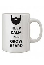 White Coffee Mug (Beard) w02