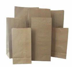 Printed Brown Paper Bag Imported Paper, Capacity: 10kg