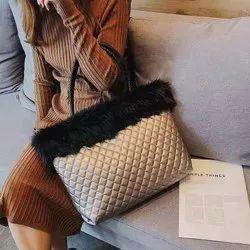 Fur Handbags Cum Tote Bags