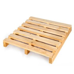 Rectangular Hardwood Babool Wood Pallet, For Packaging, Capacity: 800 Kg
