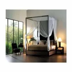 Innovator Modern Four Posted Mild Steel Double Bed, For Home,Hotel, Size: 6.25 X 4 X 2.5 Feet(bed)