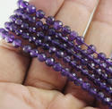 Amethyst Micro Round Faceted Beads