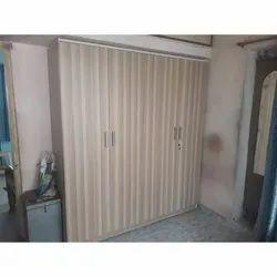 4 Door Brown Modern Wooden Wardrobe