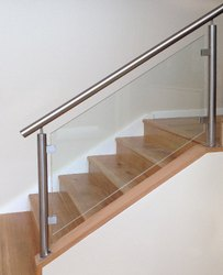 Stair Fitting Glass Baluster