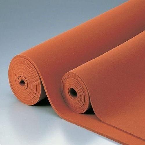 Red Silicone Foam Silicone Rubber Sheets Laxmi Rubber