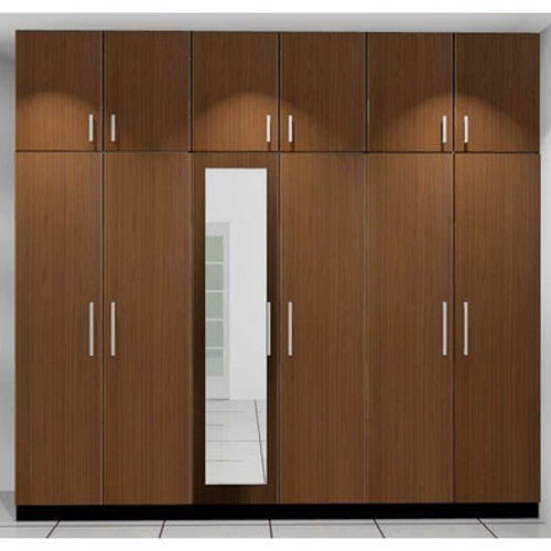 Aluminium Modular Kitchen At Rs 1100 Square Feet: Brown Modern Wooden Wardrobe, Rs 1100 /square Feet, Venza