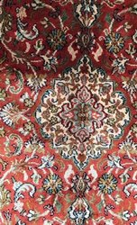Silk Printed Kashmiri Carpet, For Home, Size: 2.5 * 4 Inch