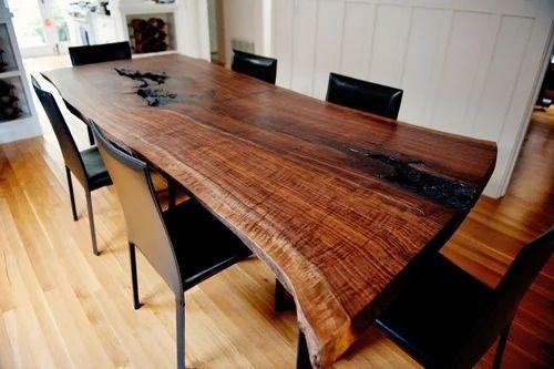 Modern Live Edge Wood Slab Dinning Table Sundek Interio