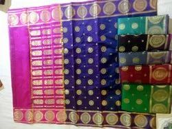 Festive Wear Embroidered Handlo16525123om Silk Sarees, 6.3 m (with blouse piece)