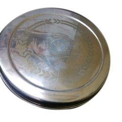 Silver Stainless Steel Tiffin Box, Size: 10 Number