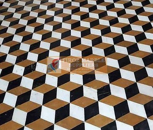 3D Marble Flooring Services, For Indoor