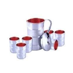 Stainless Steel Copper Jug Set, Capacity: 2 L