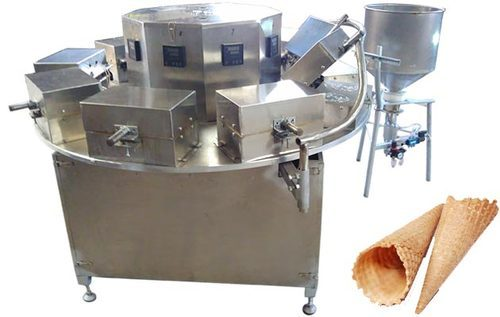 Semi Automatic Waffle Cone Making Machine