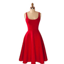 Cotton Red Ladies Red Dress, Size: S, M & L