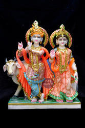 Marble Radha Krishna God Statue