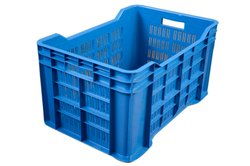 Swift International Blue Plastic Storage Container Crate, Capacity: 20 kg