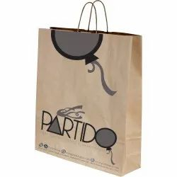 Printed Handled 2 Color Brown Kraft Paper Bag, Capacity: 2kg, Packaging Type: 3 Ply Carton