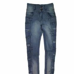Denim Ladies Ripped Casual Jeans