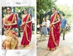 Stylish  Black Designer Bridal Saree