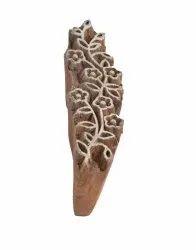 Brown Sheesham Wood Wooden Printing Block